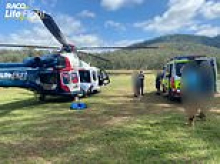 Boy is flown to hospital with head injuries after falling from a rope swing while on camping trip